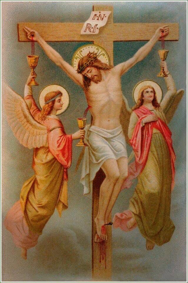 Jesus on Cross with angels