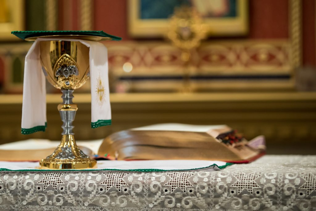 chalice on the altar